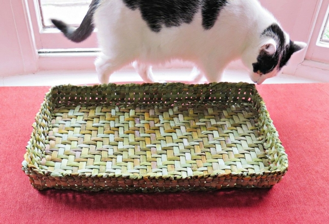 smudge with rush tray